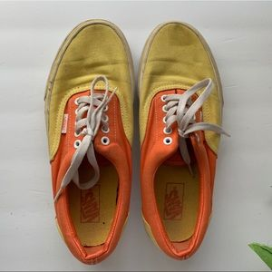 Vans Authentic Yellow and Orange Shoes Size 10